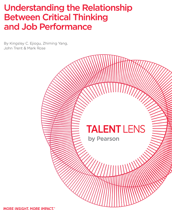 Study: Understanding the Relationship Between Critical Thinking and Job Performance